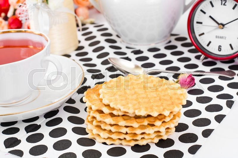 Stock image of 'Tasty Delicious Sweet Shortbread Biscuits Studio Photo'