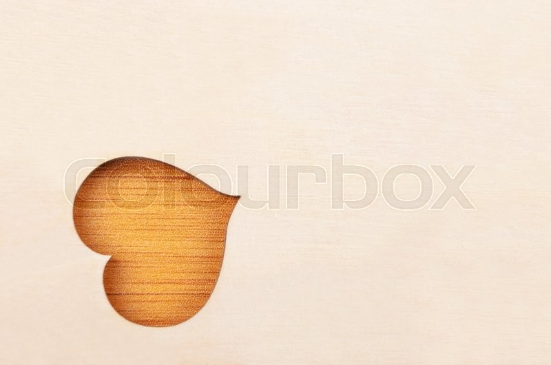 Stock image of 'Heart on wooden background, card for Valentine's day'