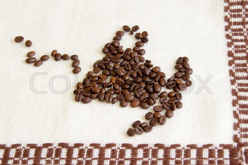 Stock image of 'Cup of coffee on a white background'