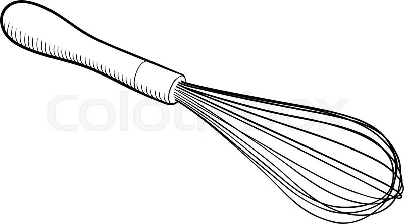 Wire whisk kitchen utensil isolated on white background ...