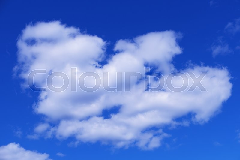 Stock image of 'Beautiful white clouds on blue sky background'
