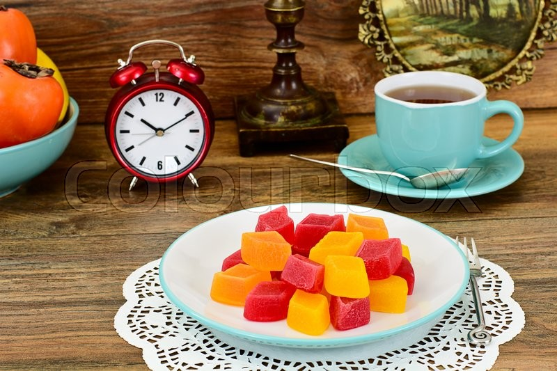 Stock image of 'Tasty Sweet Candied Fruit Jelly Studio Photo'