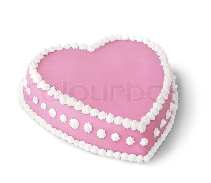 Pink Heart Shape Marzipan Cake Stock Photo Colourbox