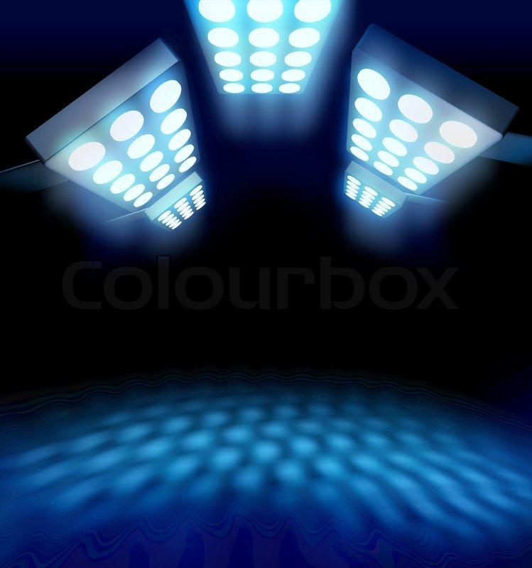 Arena Lights Gif: Stadium Style Premiere Lights Leuchtende Blaue Fläche Auf