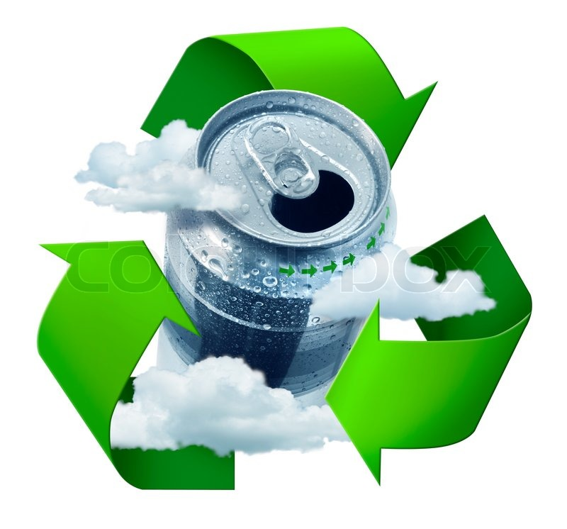 Recycling Prevents Climate Change Concept Symbol Arrows Stock