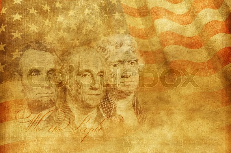 Stock image of 'Americas Founding Fathers Concept Illustration. United States of America Concept Background Illustration.'