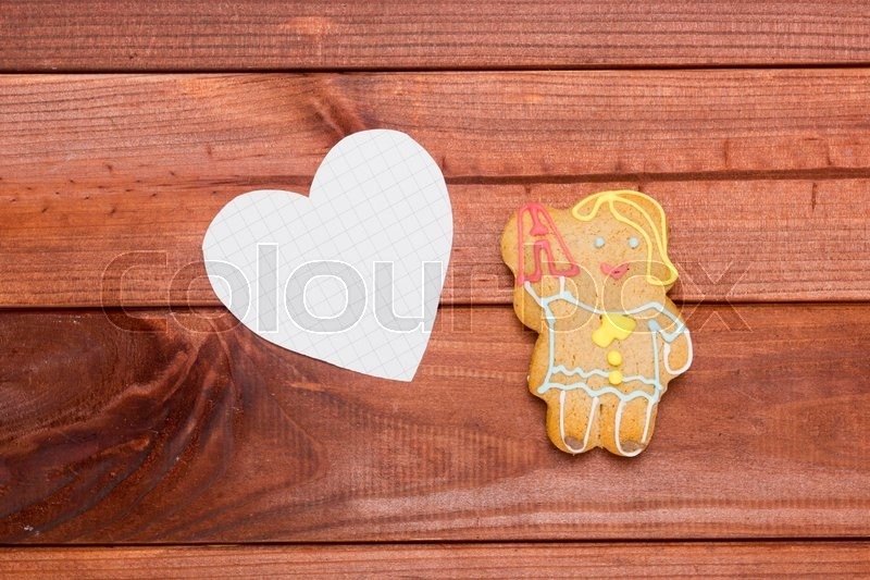 Stock image of 'Cookies in the shape of man, the teaching profession.'