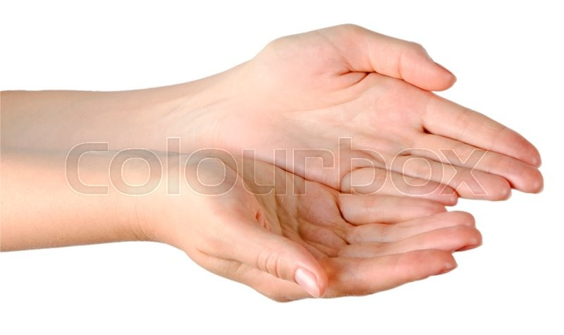Stock image of 'Close up of woman's palms'