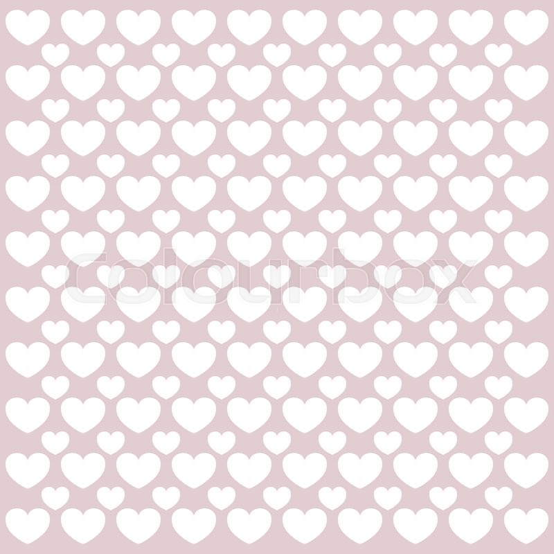 Stock image of 'Valentine's day pattern with heart in pastel tones'