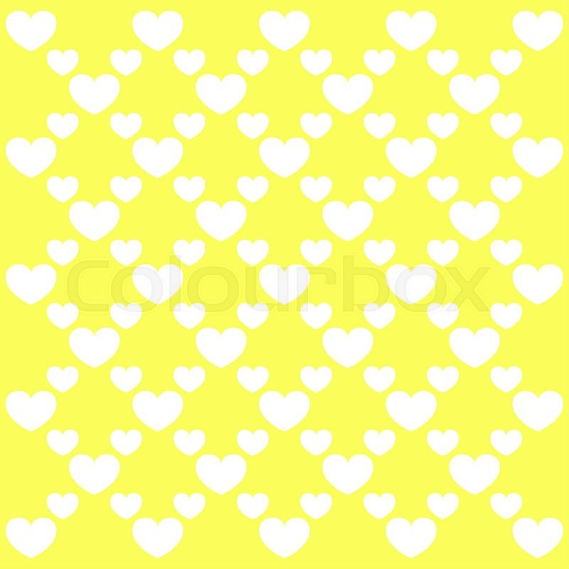 Stock image of 'Valentine's day pattern with heart in yellow tones'