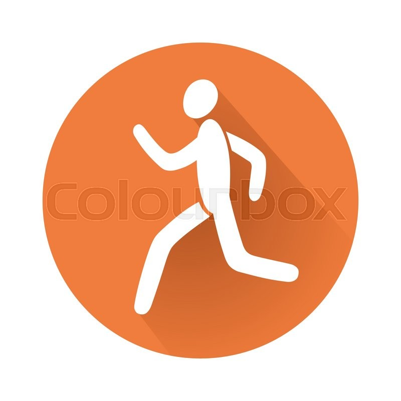 This Is An Illustration Of A Running Man Symbol Stock Vector