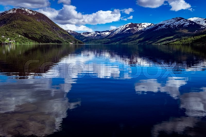 Stock image of 'Beautiful Nature Norway natural landscape.'