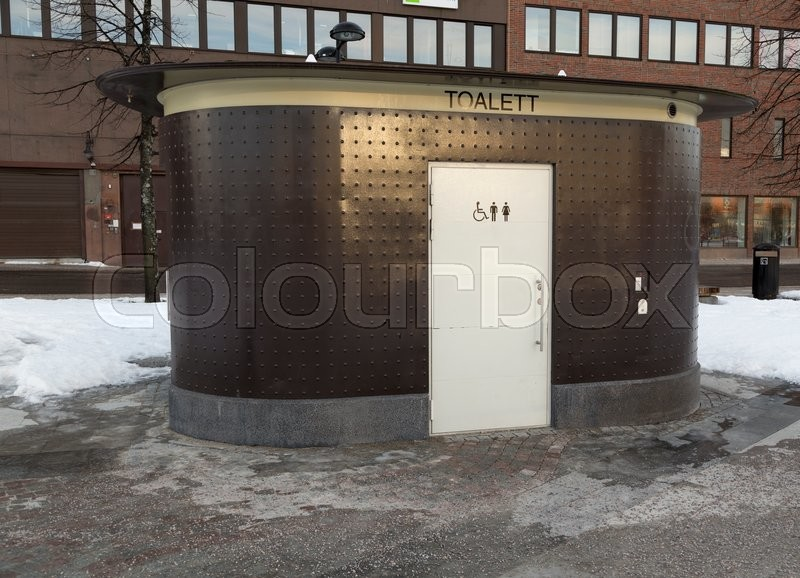 Editorial image of 'Public toilet in the street in Sundsvall'