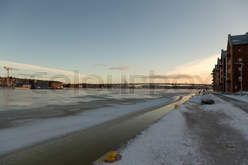 Editorial image of 'A view at the new E4 bridge in Sundsvall'
