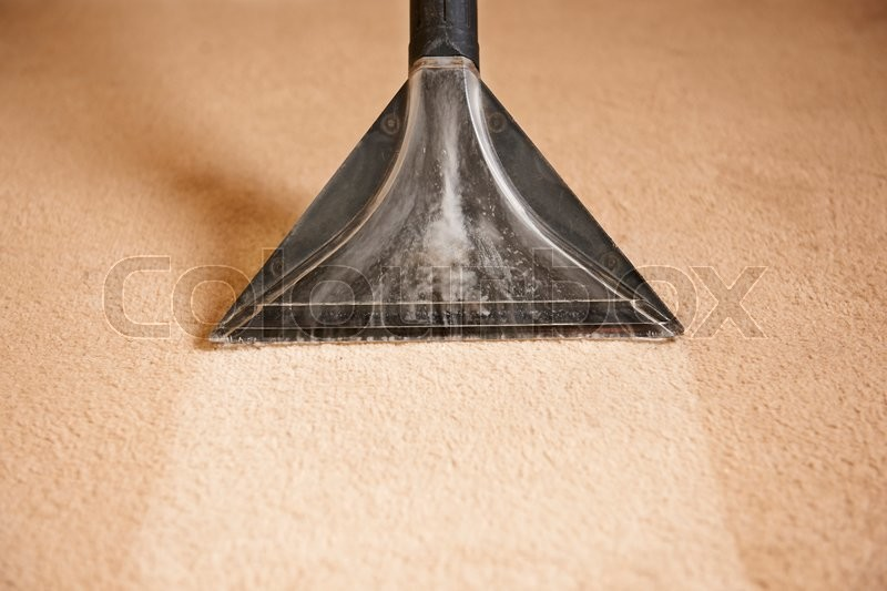 Stock image of 'Professionally Cleaning Carpets'