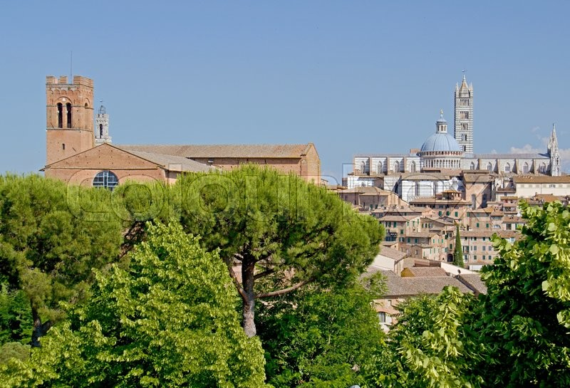 Stock image of 'Photo shows a general view of the Tuscany city of Siena.'