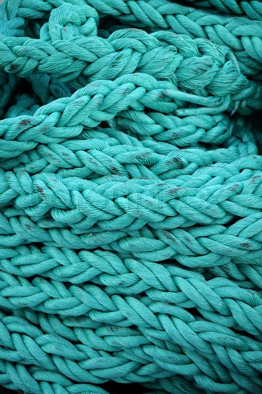 Stock image of 'Turquoise rope                        '