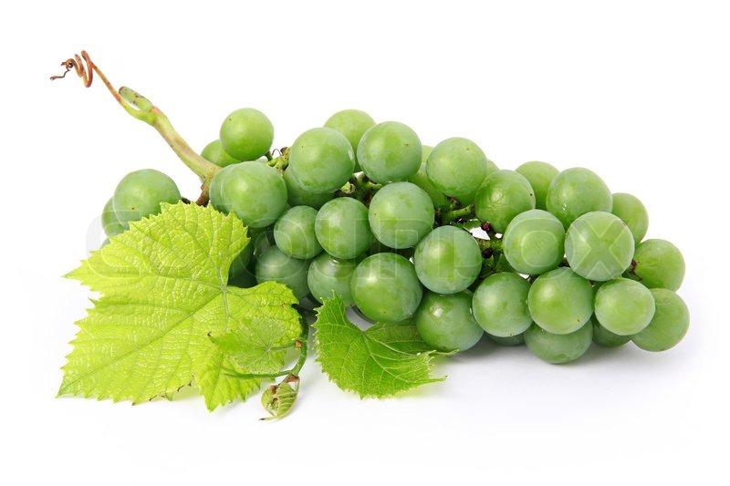 Stock Bild von Frischen Weintrauben Früchte mit grünen Blättern