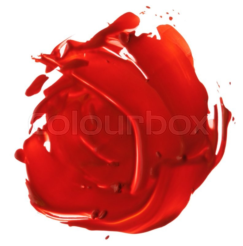 Stock image of 'Abstract acrylic brush strokes blot'