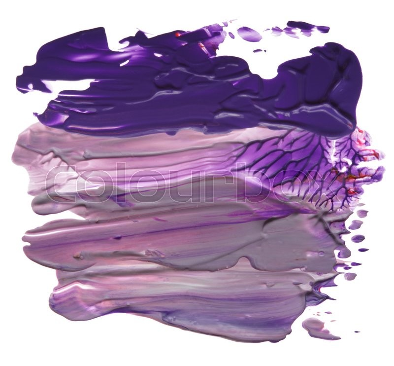 Stock image of 'Abstract acrylic brush strokes blots'