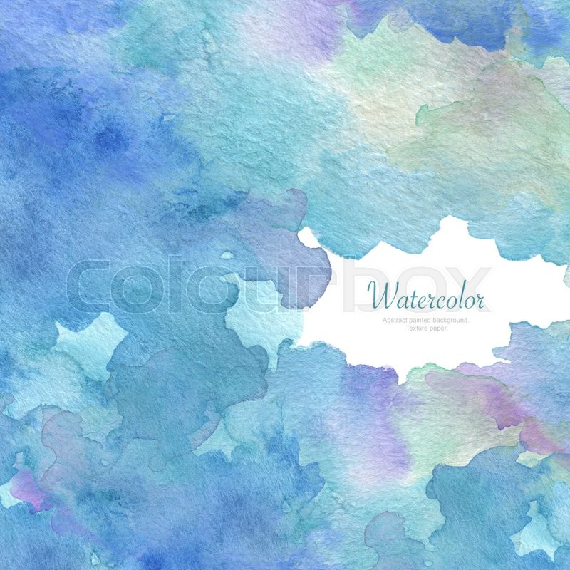 Stock image of 'Abstract acrylic and watercolor brush strokes painted background. Texture paper.'
