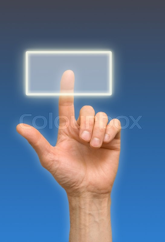 Stock image of 'arm press the button, window'