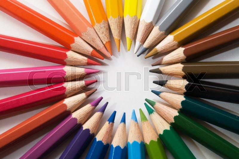 Stock image of 'color pencils'