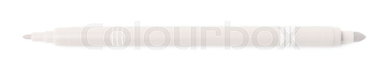 Stock image of 'Felt-tip gray pen marker isolated over the white background'