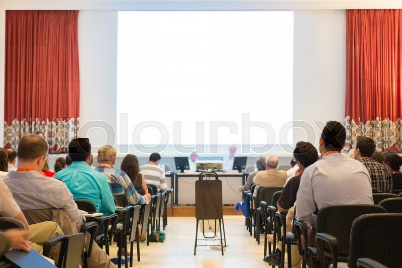 Stock image of 'Speaker at Business Conference and Presentation. Audience at the conference hall. Business and Entrepreneurship.'