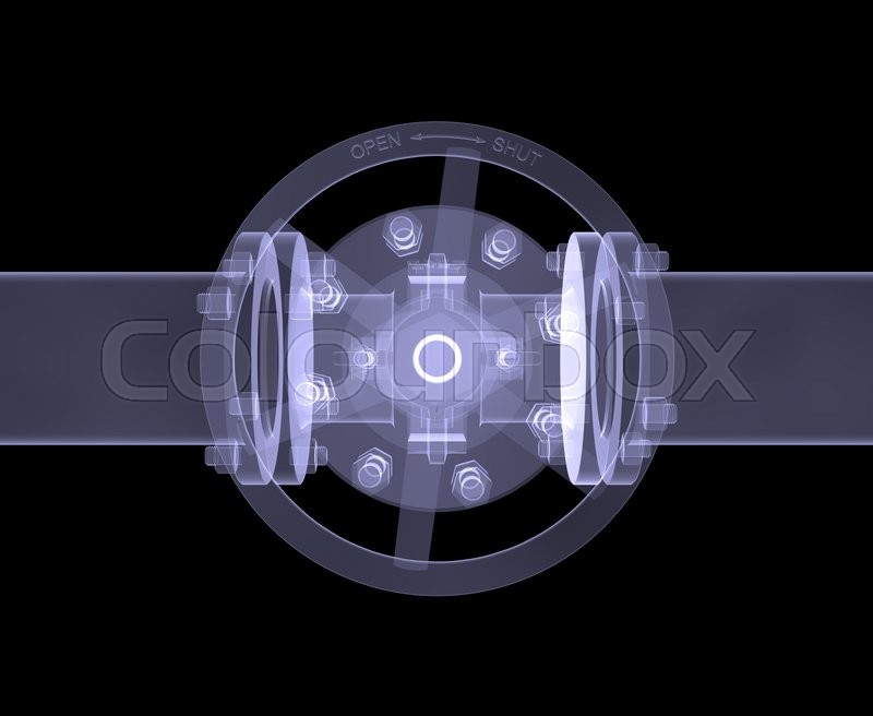 Stock image of 'Xray of water pipe picture, top view'