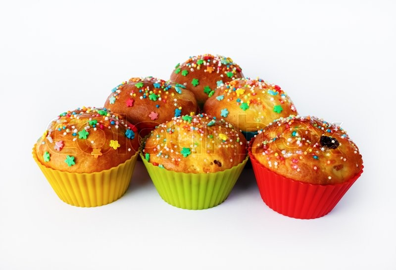 Stock image of 'Appetizing tasty homemade cupcakes. Delicious sweet muffins.'