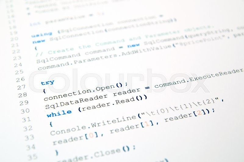 Stock image of 'Code of php language on white background'