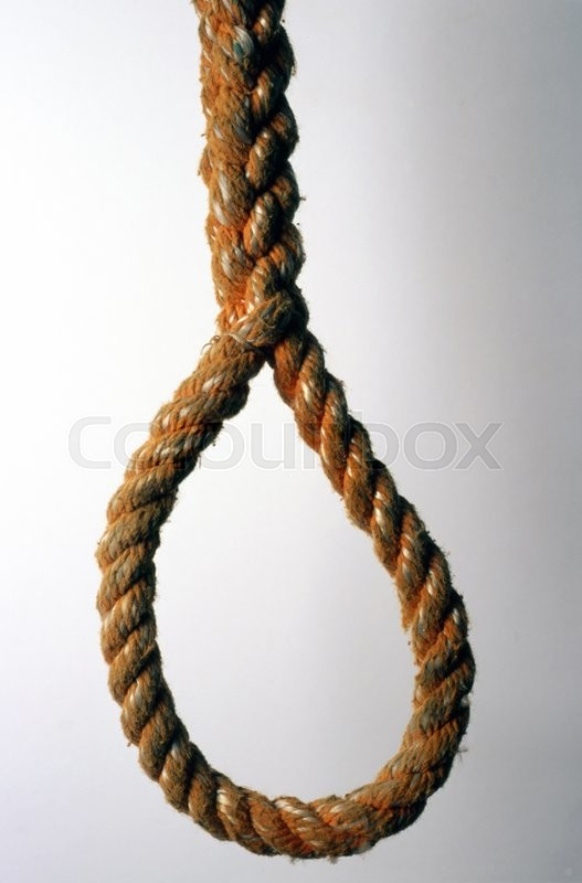 Stock image of 'A thick rope isolated on white background'