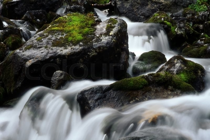 Stock image of 'Beautiful  stream with huge rocks in mountain'