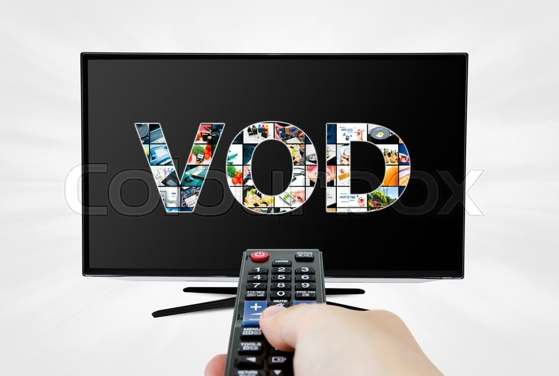 Stock image of 'Video on demand VOD service on smart TV'