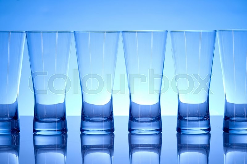 Stock image of 'A studio photo of a tall water glass'