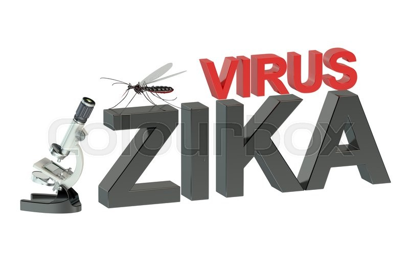 Stock image of 'Zika virus concept  isolated on green background'