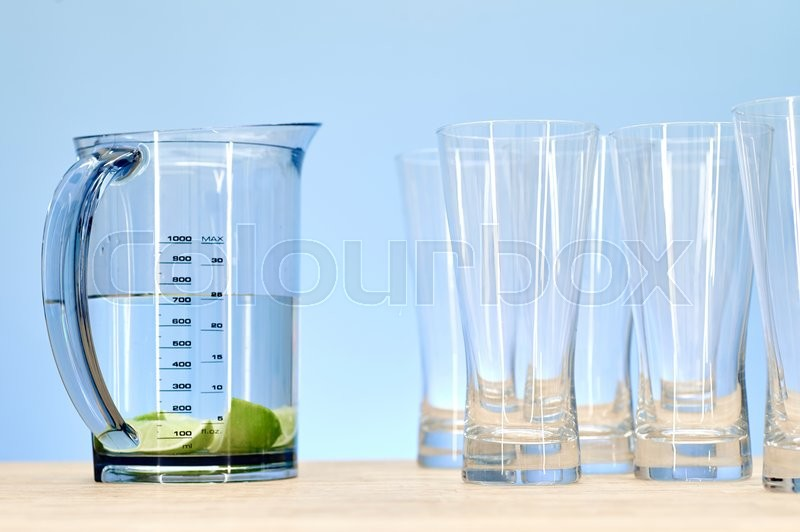 Stock image of 'A studio photo of a tall water jug'
