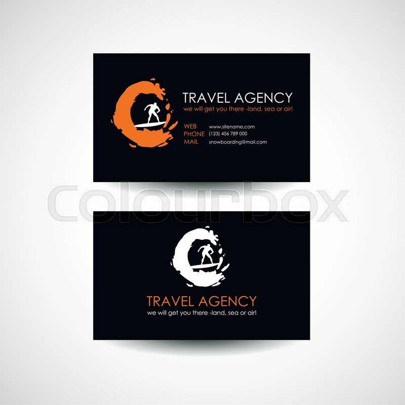 Travel Agency Business Card Abstract Stock Vector Colourbox