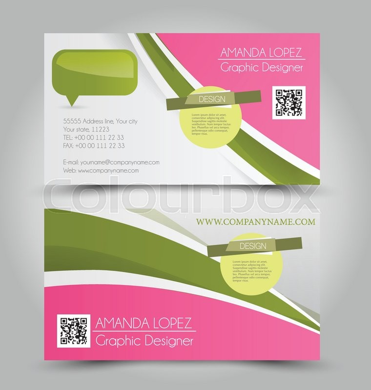 Pink and green business cards geccetackletarts pink and green business cards colourmoves