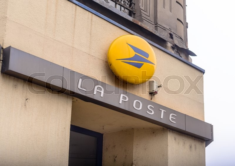 Editorial image of 'PARIS, FRANCE - OCTOBER 28, 2015: La Poste sign on building.'