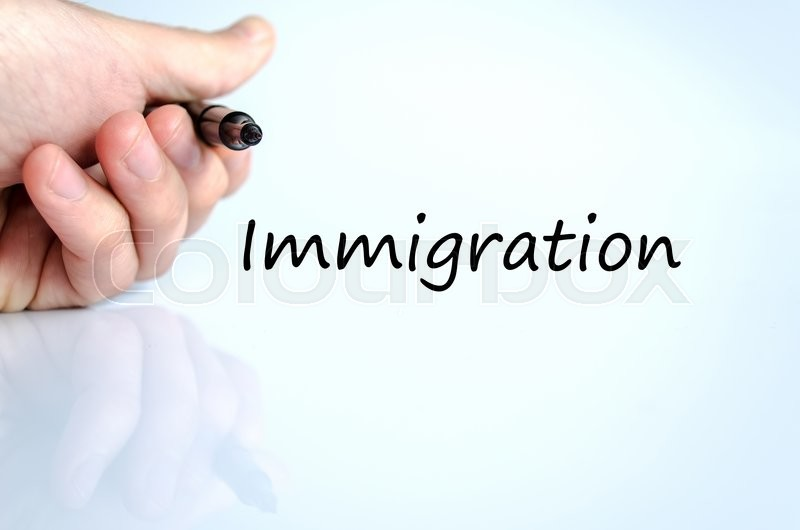 Stock image of 'Immigration text concept isolated over white background'