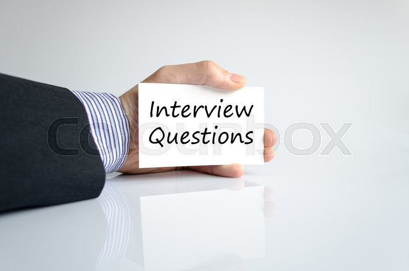 Stock image of 'Interview questions text concept isolated over white background'
