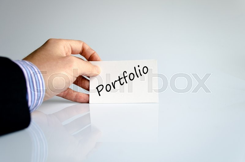 Stock image of 'Portfolio text concept isolated over white background'