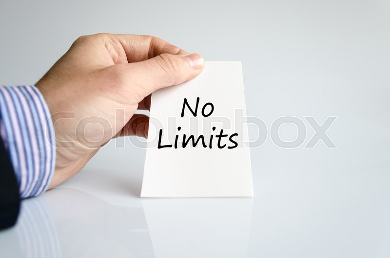 Stock image of 'No limits text concept isolated over white background'