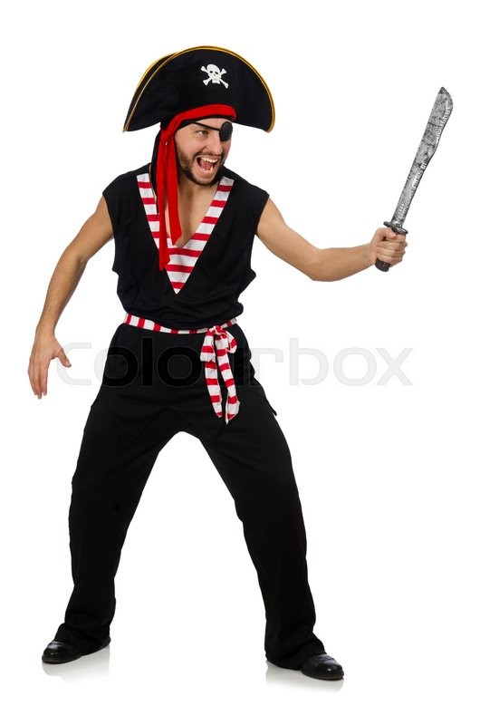 Stock image of 'Man pirate isolated on the white background'