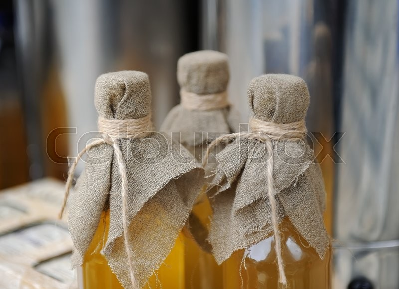 Stock image of 'Homemade liqueur with spices - still life '