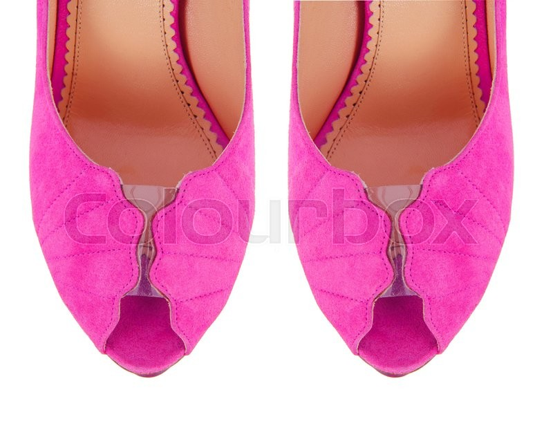 Stock image of 'Tip of woman shoes isolated on white'