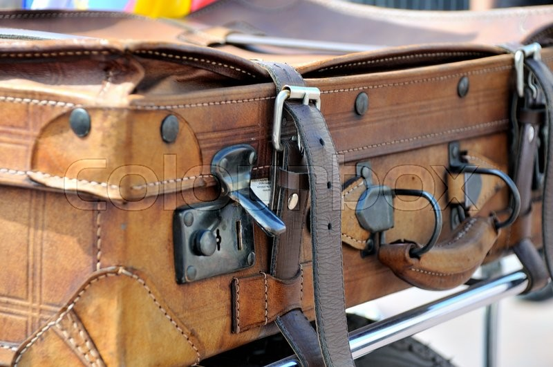 Stock image of 'Old style suitcases outdoors '
