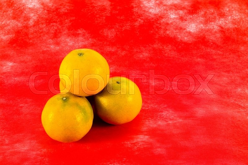 Stock image of 'Four oranges for chinese new year festival'